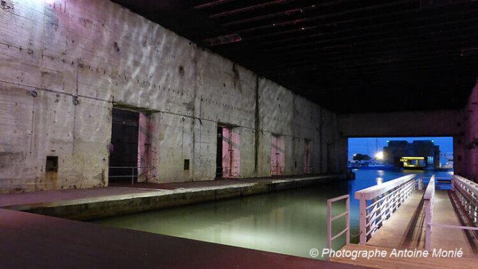 La base sous-marine à Saint-Nazaire