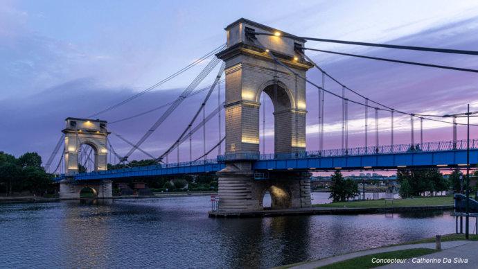 Le pont du Port à l'Anglais à Vitry sur Seine